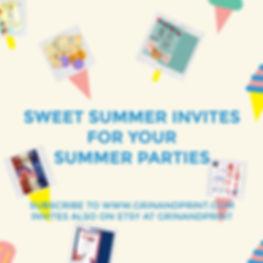 PINTEREST SUMMER AD Sweet Treat INVITES.