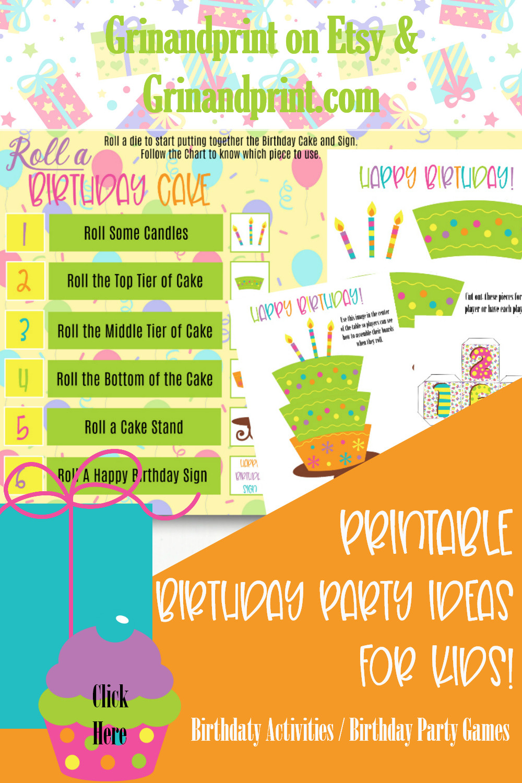 Birthday Games / Printable Birthday Games / Birthday Activity / Birthday Party Ideas