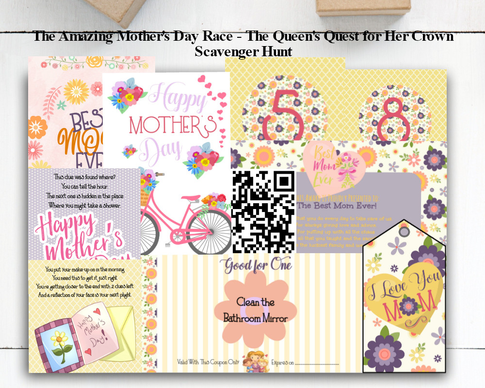Mother's Day Activity / Mother's Day / Mother's Day Games / Mother's Day Scavenger Hunt