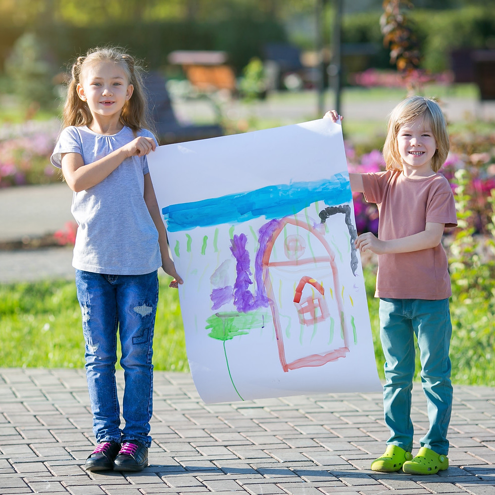 Life Size Mural, Kids Painting, Kids Drawing, Painting with Kids, Winter Activities with Kids