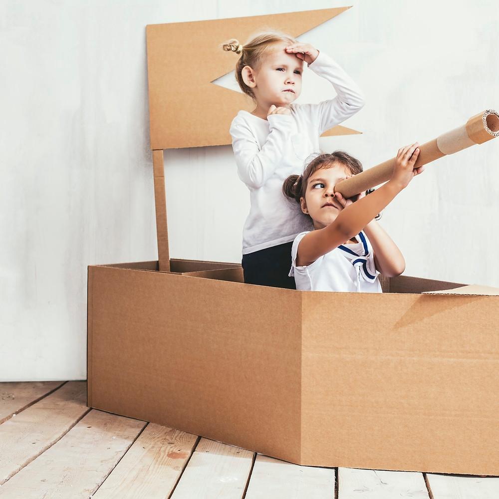 DIY Cardboard Crafts for Kids, Cardboard, Cardboard Ideas, Kids Activities, Family Activities, Winter Activities for Kids
