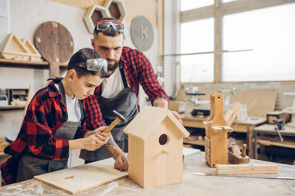 Building Kits for Kids / Building Kits / Building with Dad / Building Kits for Dad / Birdhouse Ideas / Fathers Day Ideas / Fathers Day Crafts