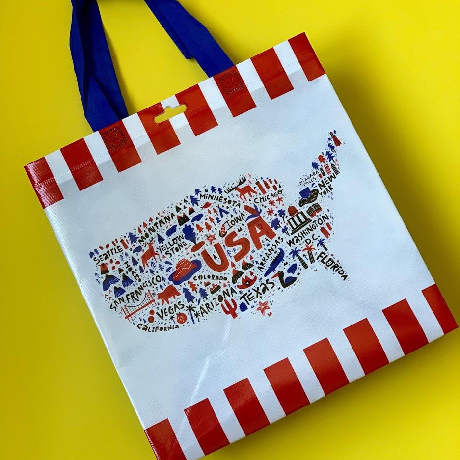 kroger bag, fourth of july, fourth of july games, fourth of july bag, neighborhood scavenger hunt, scavenger hunt, treat bag