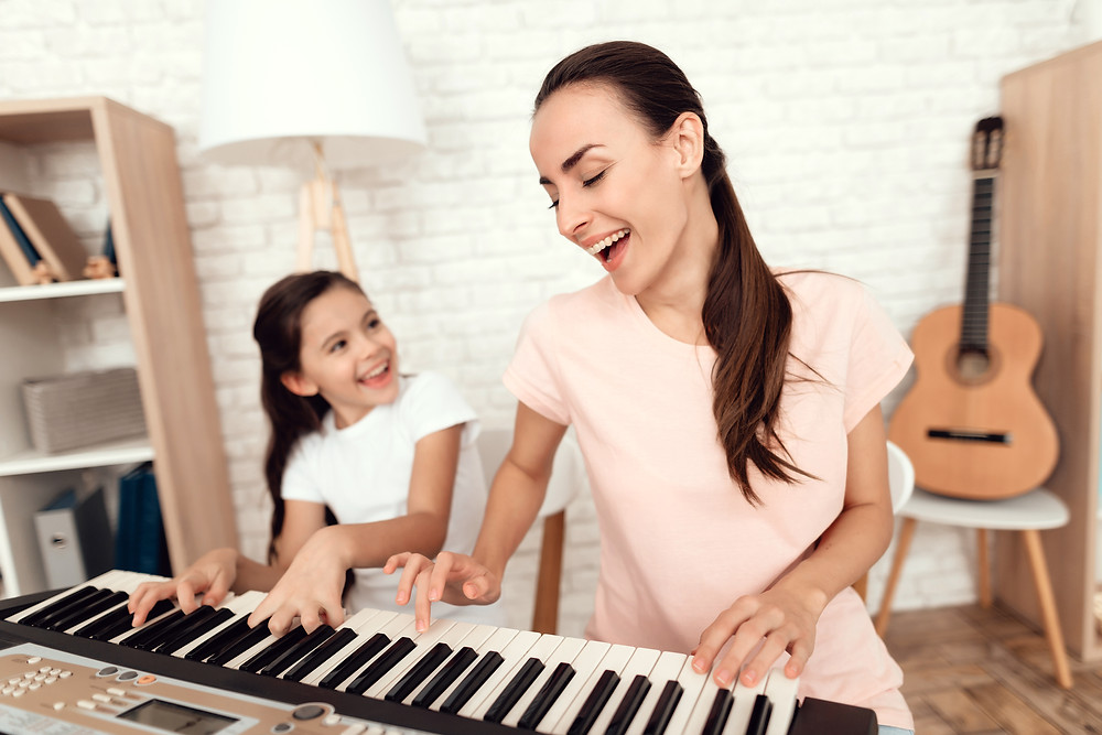 Taking Lessons, Playing Music, Skillshare, YouTube Classes, YouTube, Lessons with Mom, Going Back to School, Mom, Mother's Day Gift Ideas, Mother's Day