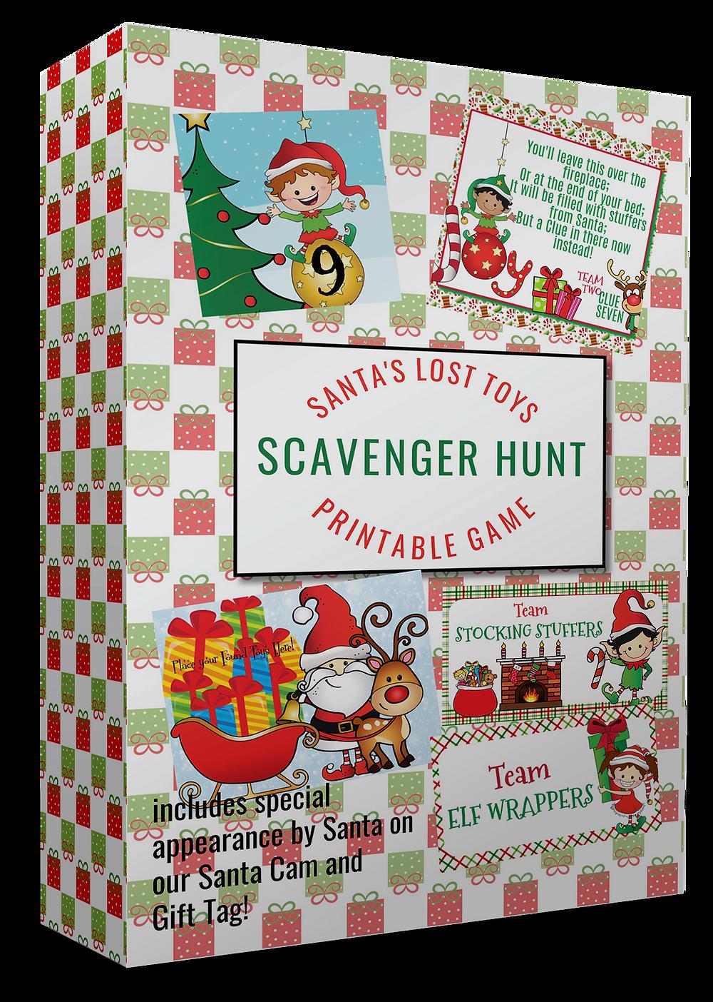 Christmas Scavenger Hunt / Santa Claus Games / Santa Games / Holiday Games / Holiday Activities / Christmas Games / Christmas Activities for kids / Present Scavenger Hunt / Birthday Scavenger Hunt