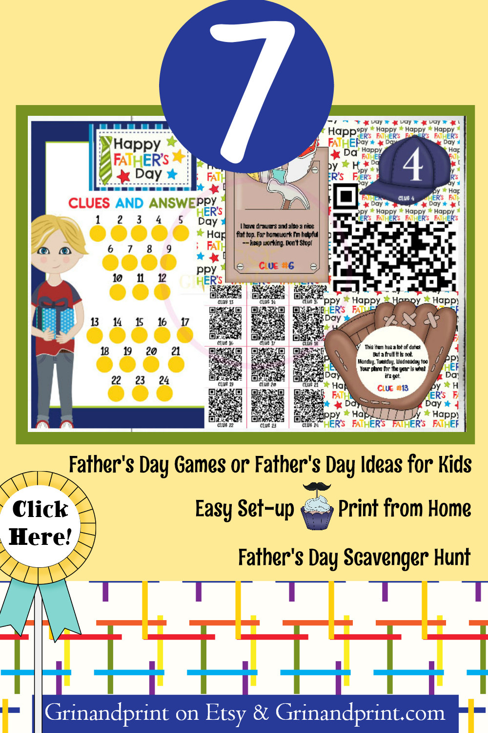 Fathers Day Scavenger Hunt / Fathers Day Games / Fathers Day Ideas for Kids / Printable / Scavenger Hunt / Fathers Day Scavenger Hunt / Fathers Day Gift