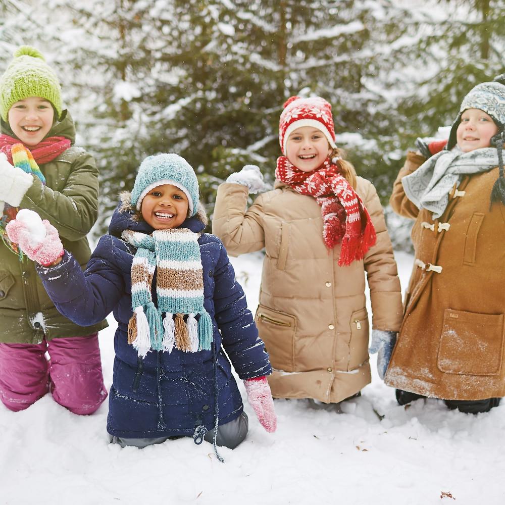 Winter Scavenger Hunt, Winter Games, Snowball Fight, Kids Activities