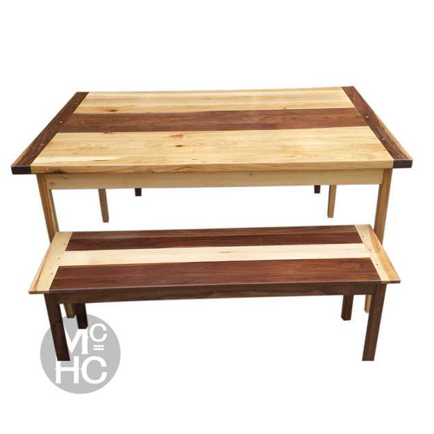 Hickory & Walnut Dining Table