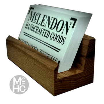 Hickory Business Card Holder