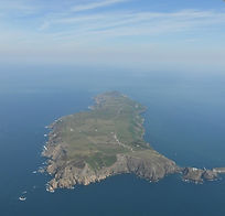 Aerial view of Lundy (copyright: Anthea Colgate)