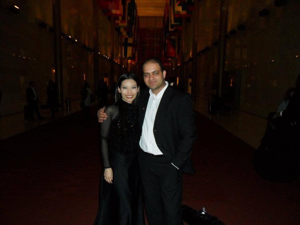 With Tunisian violist Mourad Frini