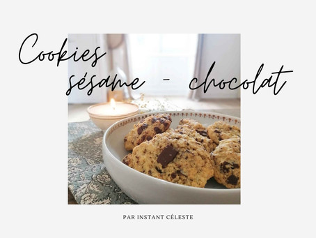 Recette cookie sésame/chocolat