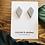 Thumbnail: Diamond concrete earrings