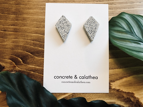 Diamond concrete earrings