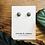 Thumbnail: Dainty dots concrete earrings