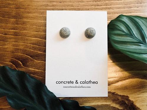 Dainty dots concrete earrings