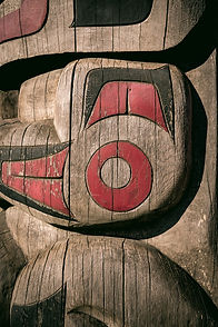Close up detailing of ancient colorful Totem pole in Duncan, British Columbia, Canada._edited.jpg