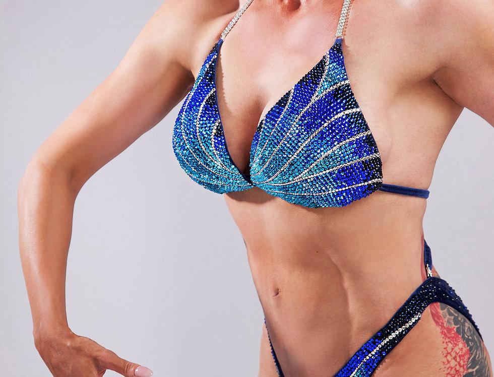 Bikini figure bleu Crystal