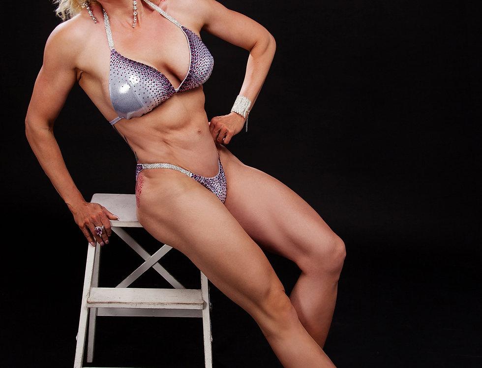 bikini argent violet