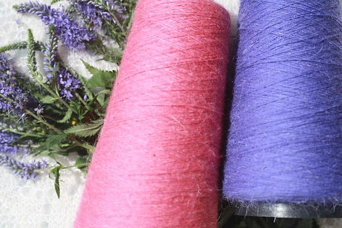 Colored lace yarn from combed Orenburg goat down
