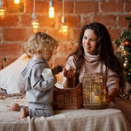 образы +для новогодней фотосессии семьей