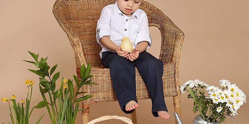 Фотосессия с цыплятами