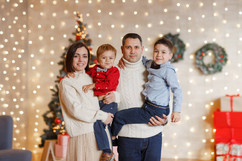 новогодняя фотосессия семейная +в студии образы