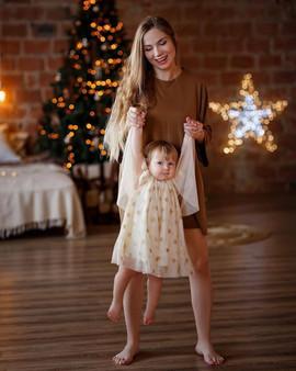 новогодняя фотосессия мама +и дочка