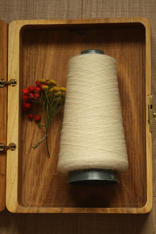 Cozy yarn from Orenburg goat down and sheep wool