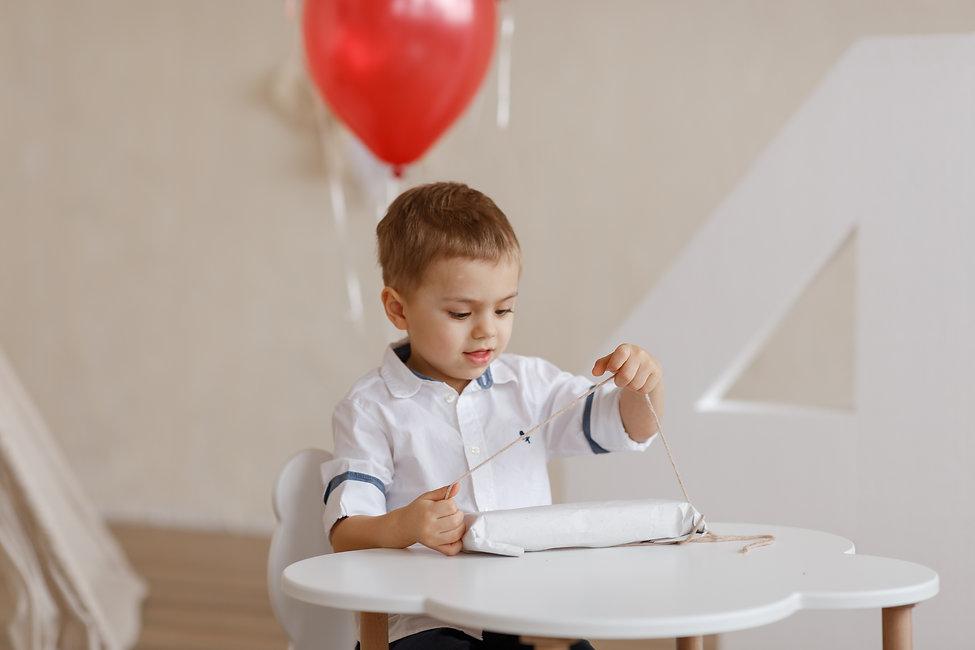 фотосессия детская в студии день рождения фото