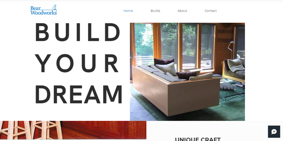 Brief: Design and build website for custom carpentry business, Bear Woodworks