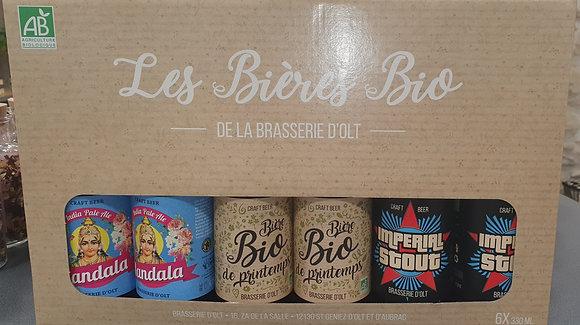 Coffret  6 bieres Bio 6x33cl
