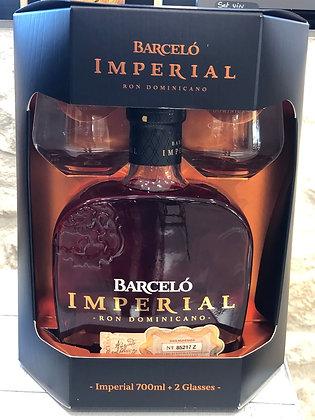 Coffret Barcelo + 2 verres