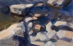 Deep Blue Shallows 33x49