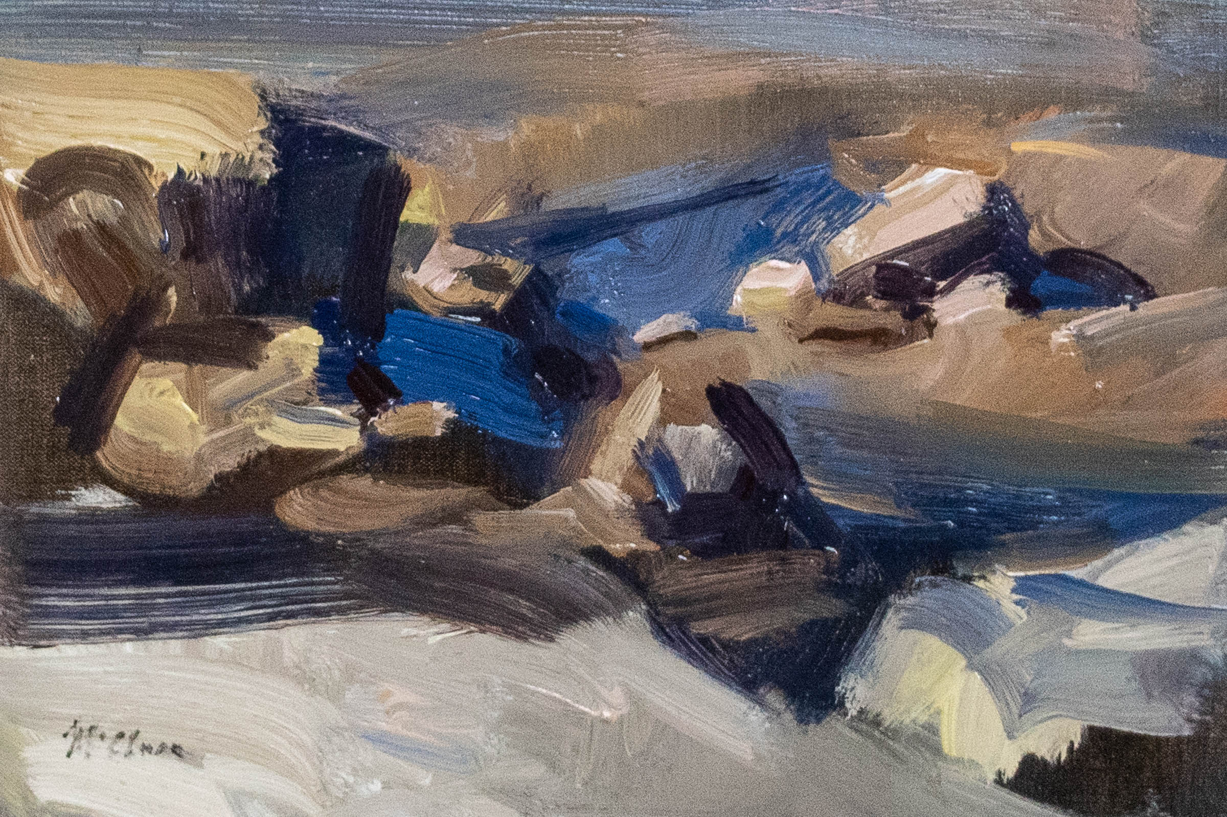 Rock Pools in Sun 24x36