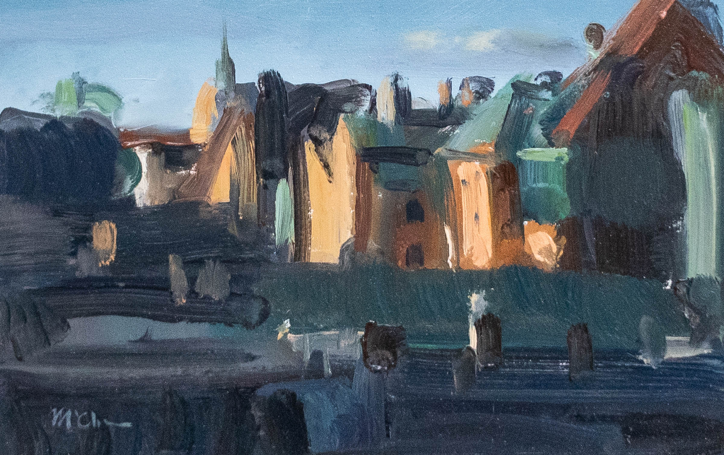 Evening Light, Stockholm Old Town 23x36