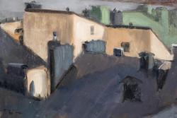 Rooftops, Gamla Stan 36x53