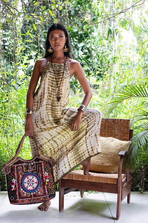 Long Dress Vietnam Animal Print