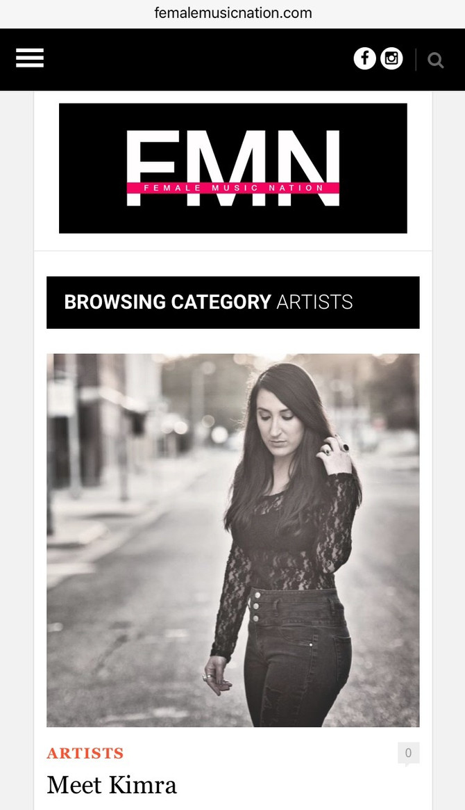 Female Music Nation Featured Artist
