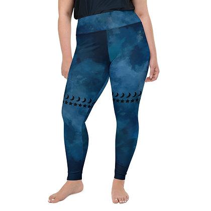 Plus Size Blue Goddess Leggings