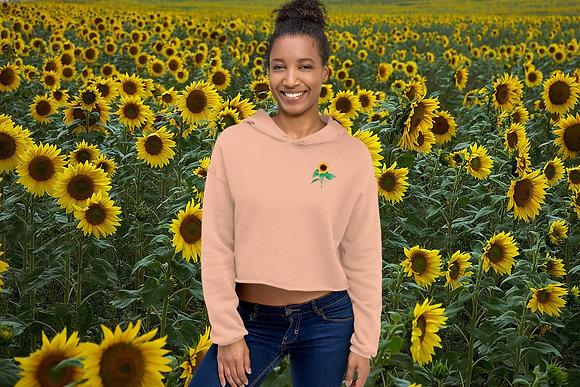Sunflower Goddess Crop Hoodie