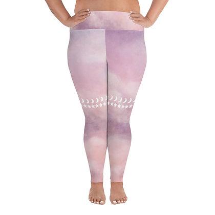 Plus Size Pink Goddess Leggings