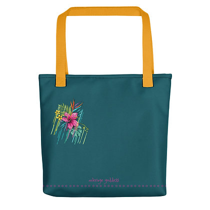 Hibiscus Drip Tote