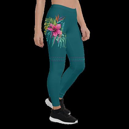 Hibiscus Drip Leggings