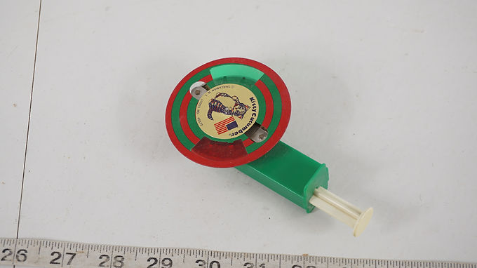 1950s Kitty Cucumber Sparkle Wheel Toy - Made In Japan