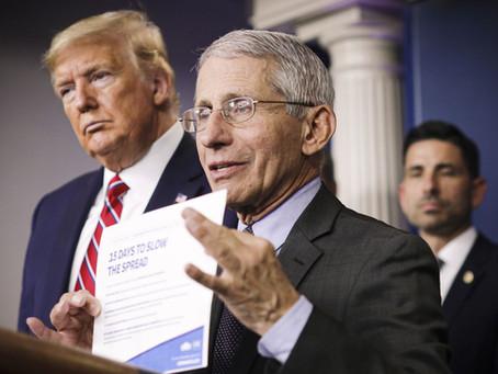 "FLASHBACK Dr. Fauci: ""President Trump's response to the virus 'impressive'"""