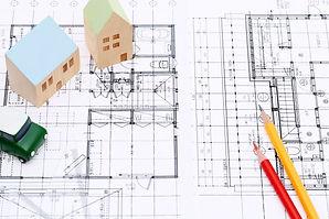 設計図と鉛筆