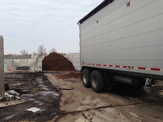 First load of Shredded Hardwood Mulch has arrived.