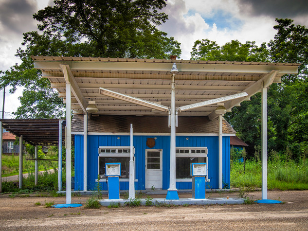 Blue Gas Station