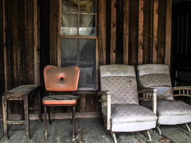 Porch Furniture Abandoned House